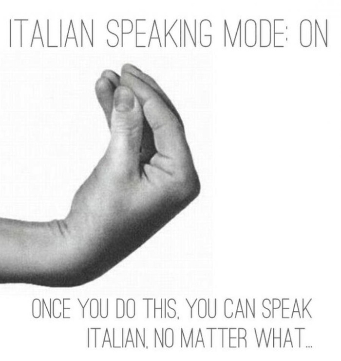italy famous hand gestures